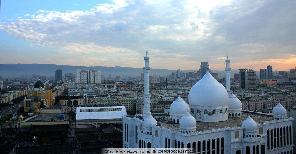 呼和浩特 内蒙古 城市 建筑 晚景 国内旅游 旅游摄影