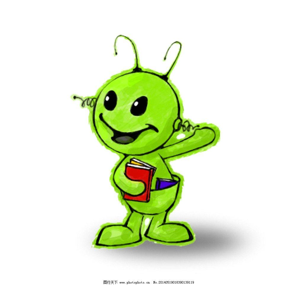 通造型 卡通 动物 机器人 看书 书 读书 动漫人物 动漫动画 设计 72-公