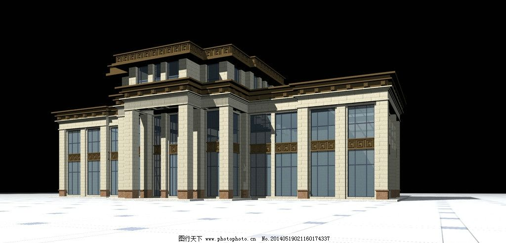 欧式建筑效果图 欧式建筑 会所 洗浴中心 建筑 外国建筑 欧洲建筑