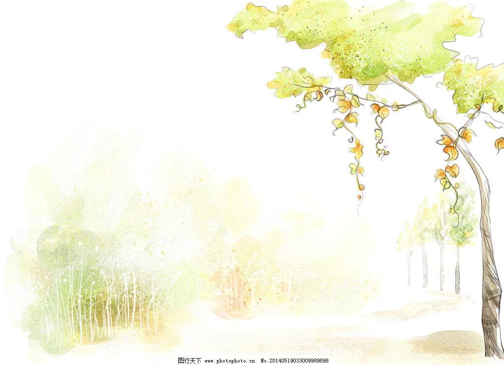 唯美的树藤免费下载 淡彩 手绘 树藤 水墨 唯美 手绘 水墨 淡彩 唯美