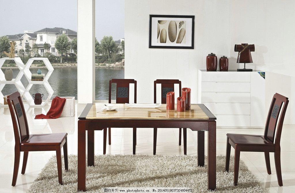 实木餐桌 实木餐桌图片素材下载 欧式餐桌 欧式 餐桌 椅子 深色 餐边