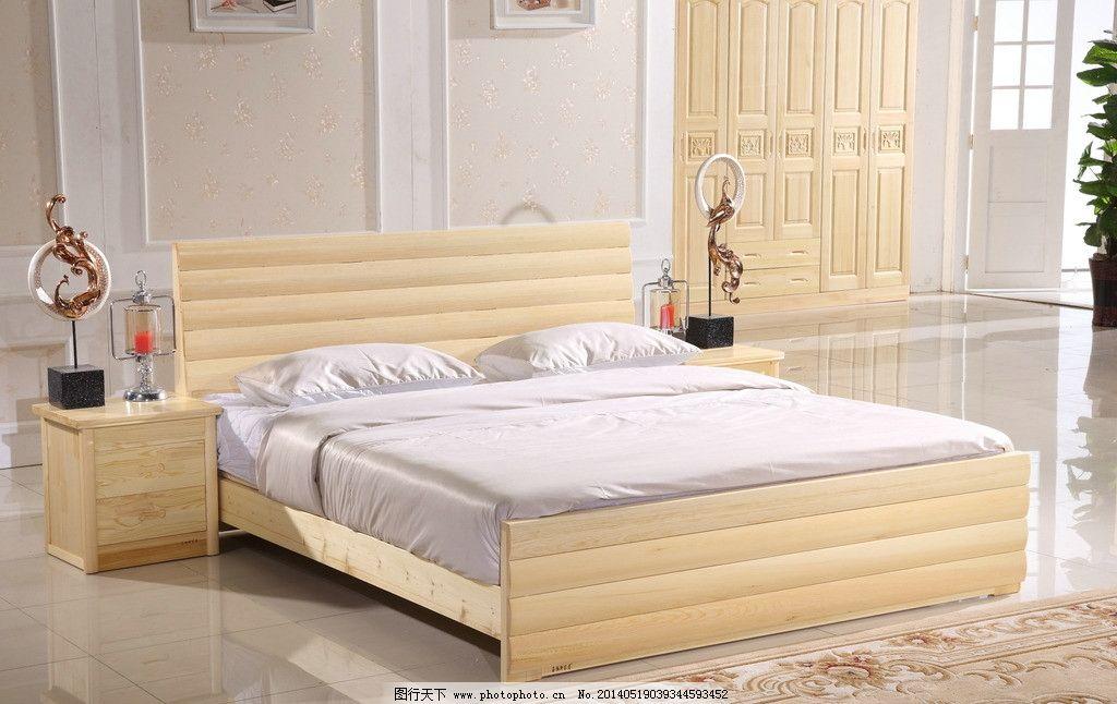 松木床衣柜图图片