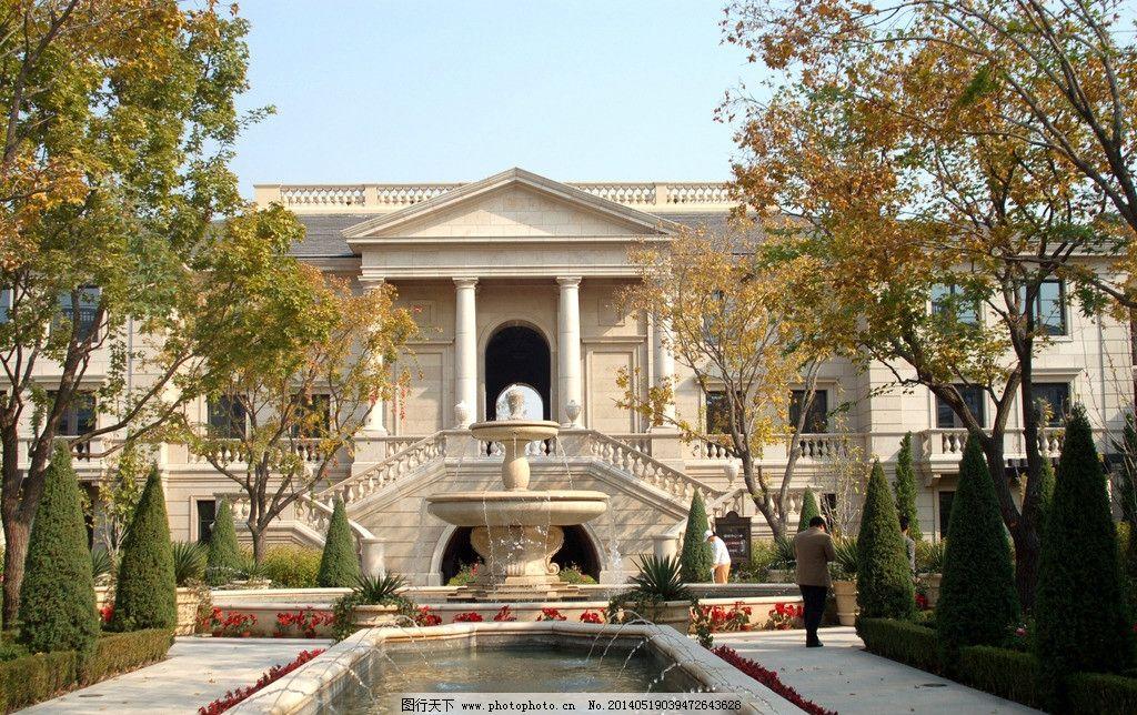 北京御园 北京 建筑 御园 工程 欧式建筑 喷泉 建筑摄影 建筑园林