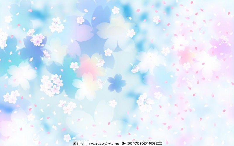 碎花ppt蓝色背景图片