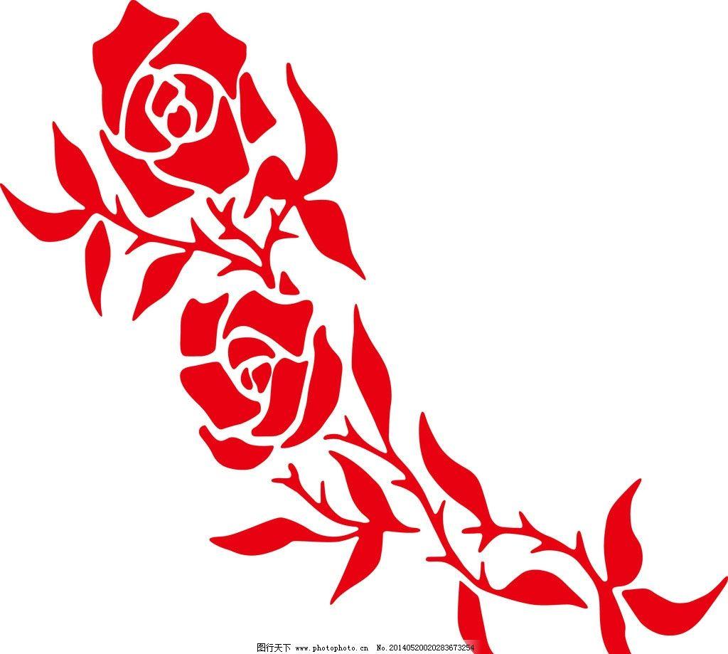 玫瑰花 花 矢量图 底纹