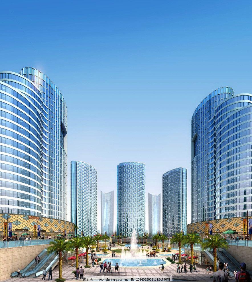 建筑设计 商场大楼设计素材