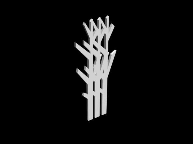 3d模型 隔断 屏风 屏风 隔断 3d模型 时尚隔断模型 3d树木形状 3d模型