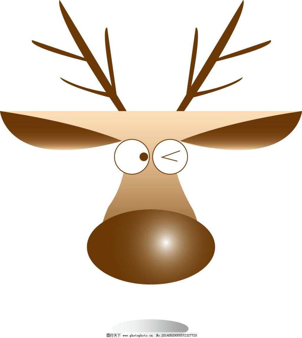 驯鹿头像免费下载 卡通