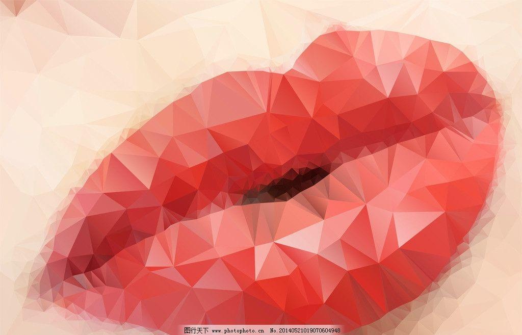 性感嘴唇 嘴唇 手绘 口红 美术绘画 抽香烟 文化艺术 矢量 eps