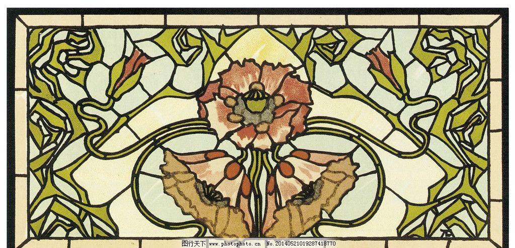 彩色 玻璃 欧洲 古典 传统 教堂 宗教 图案 设计素材 宗教信仰 文化艺
