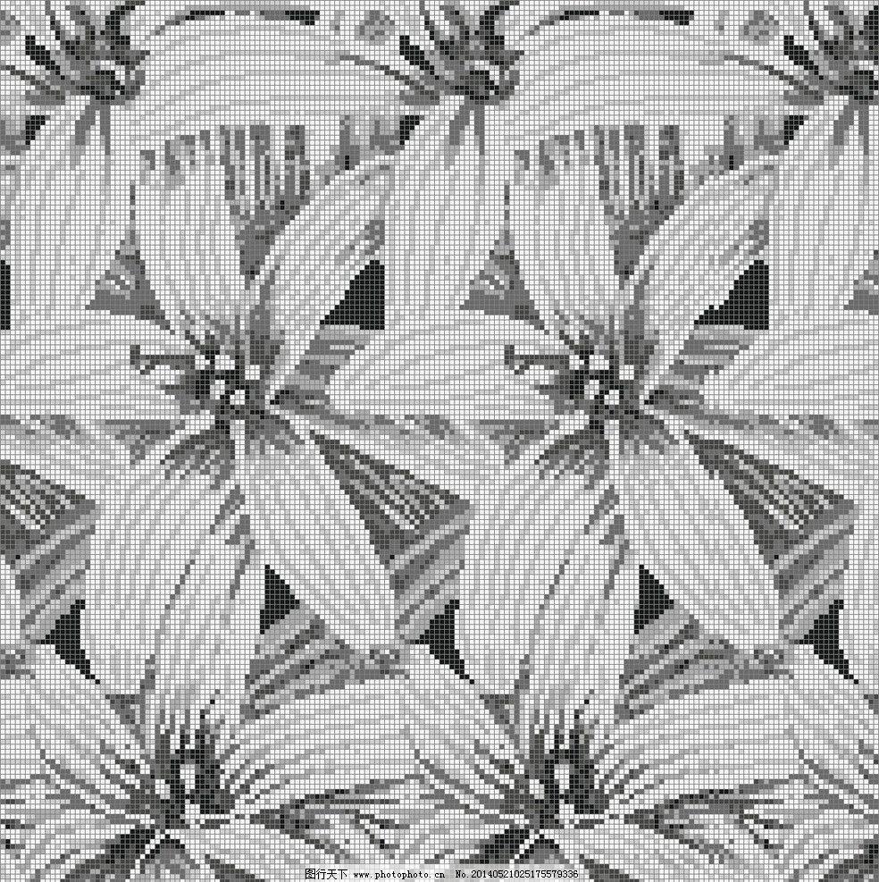 百合花 百合 花 植物 马赛克 拼贴 花草 生物世界 设计 96dpi jpg