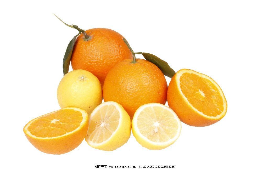 水果 橙子 刨开 柠檬 叶子 源文件 psd分层素材 72dpi psd