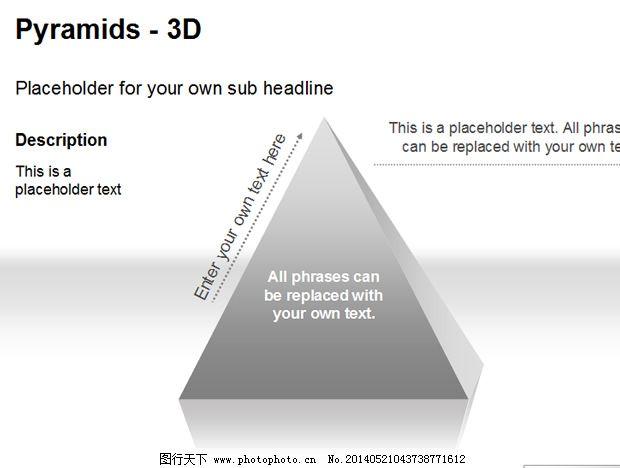 金字塔ppt图表