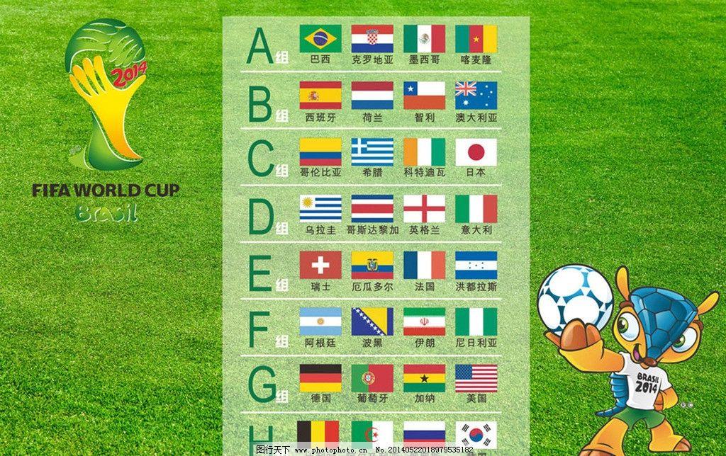 2014年巴西世界杯32强,都有哪些球队图片
