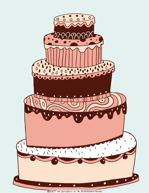 手绘多层蛋糕