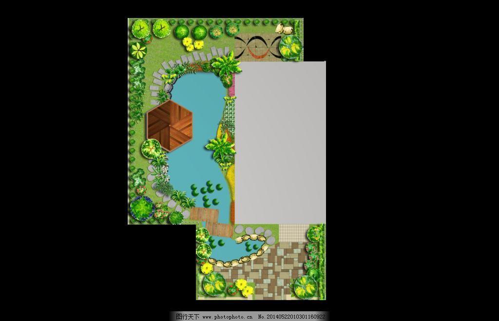 别墅平面图 环境设计 景观设计 绿化 平面图 园林设计 源文件 别墅