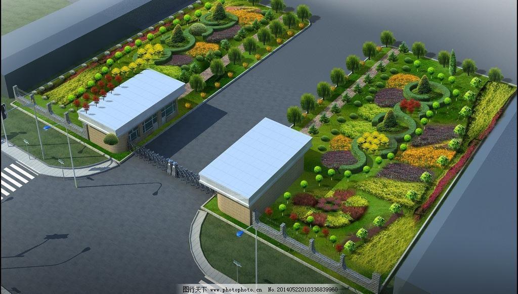 厂区绿化效果图图片