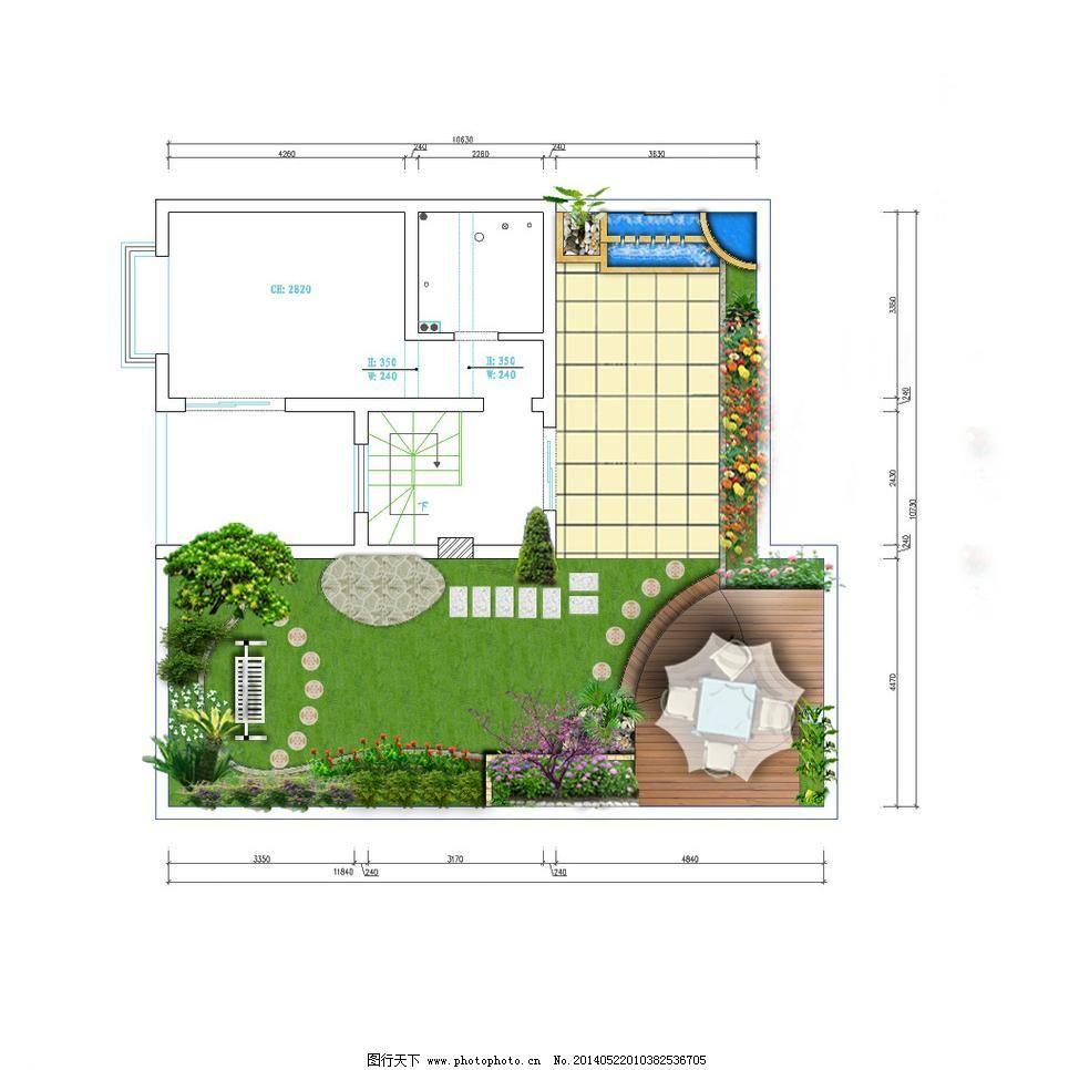 私家园林平面图 花园 绿化 庭院 源文件 私家园林平面图素材下载
