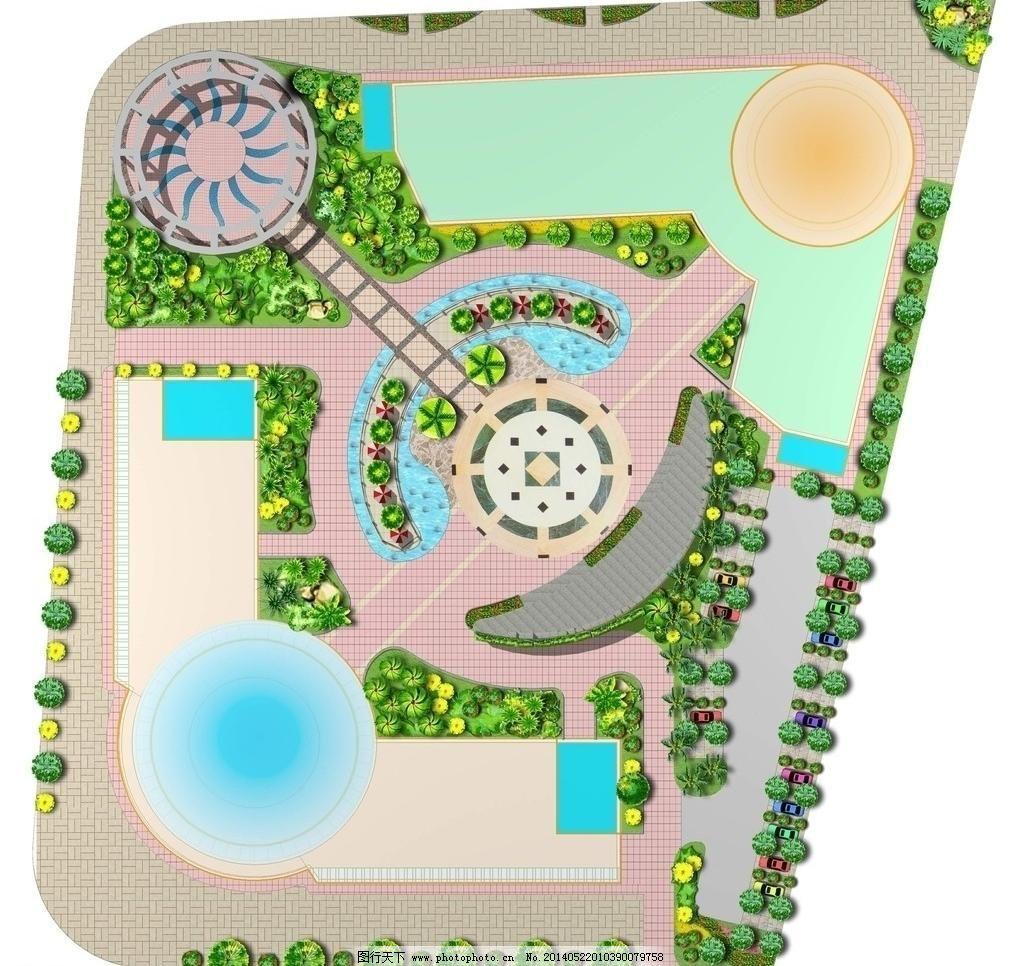 广场绿化平面图模板下载 广场绿化平面图 别墅平面图 别墅 平面图