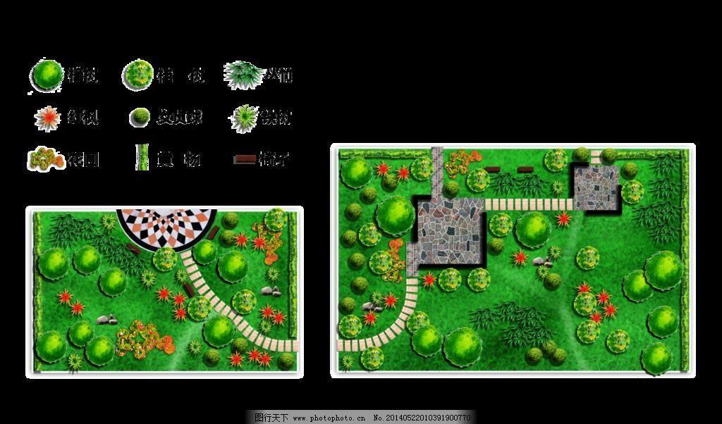 环境设计 绿化 绿化平面图 其他设计 小区        校园 学校 绿化平