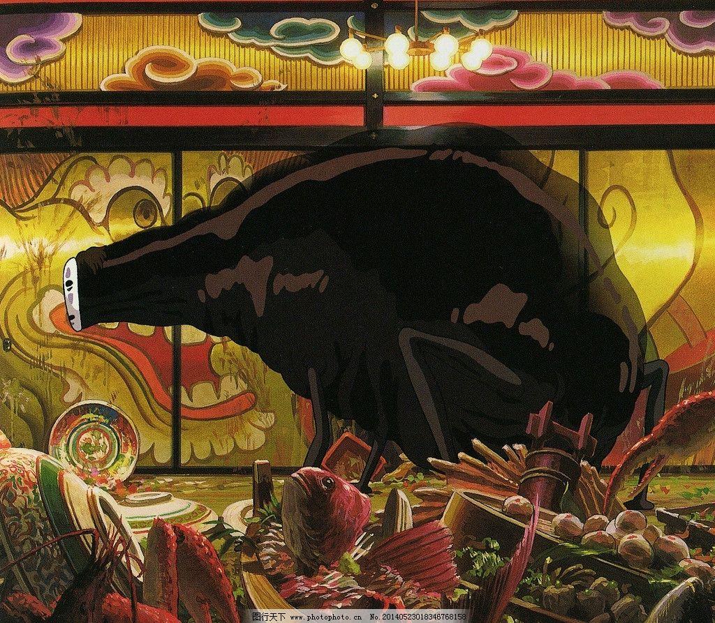 千与千寻 无脸男 千与千寻场景 场景设计 宫崎骏 手绘 钢笔画 水彩画