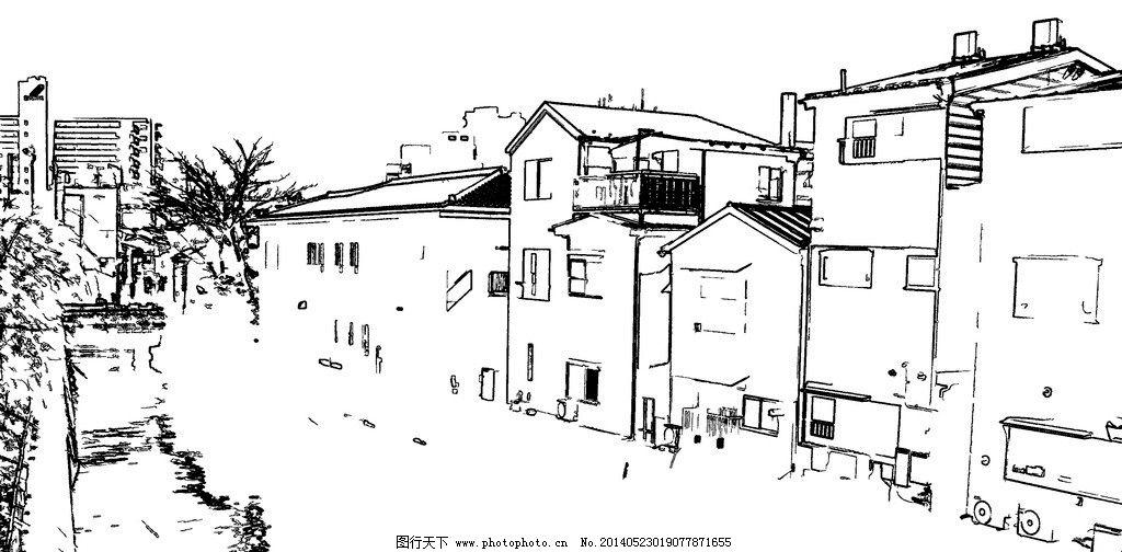 白描 线描 钢笔画 建筑钢笔画 建筑速写 手绘草图 工笔 美术 黑白稿