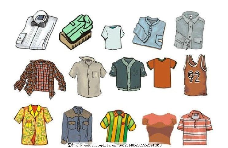 卡通服饰矢量图 衣服