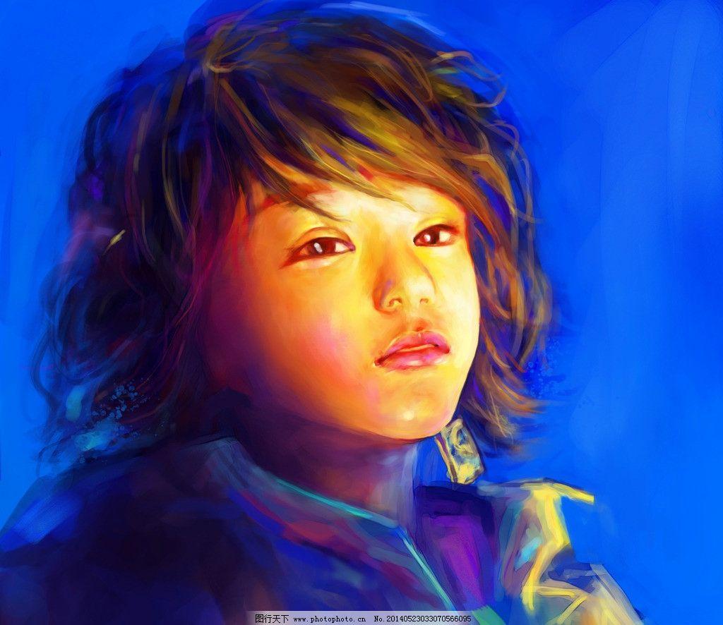 绘头像 插画 肖像 鼠绘 电脑手绘 纯手绘 手绘 cg画 手绘mm 女孩 色彩