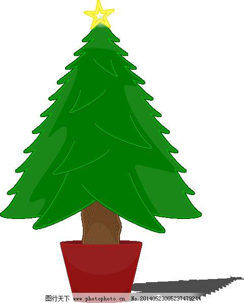 elkbuntu光泽的圣诞树剪贴画