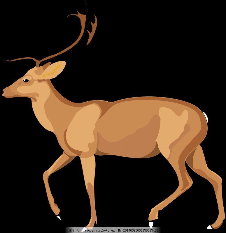 矢量 卡通动物剪贴画 农场动物的剪贴画 画线的动物 免费卡通小动物