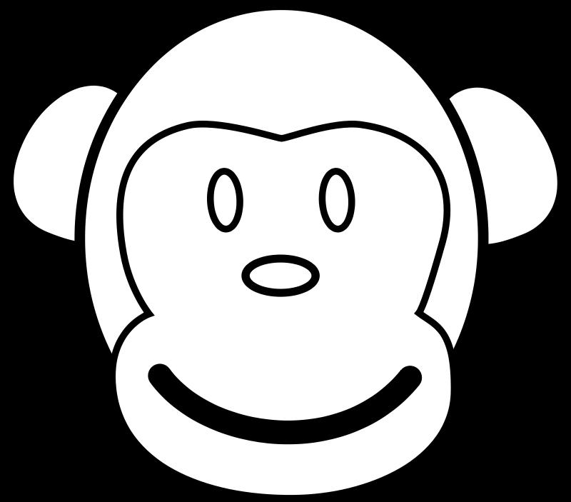 手绘可爱猴子头像高清
