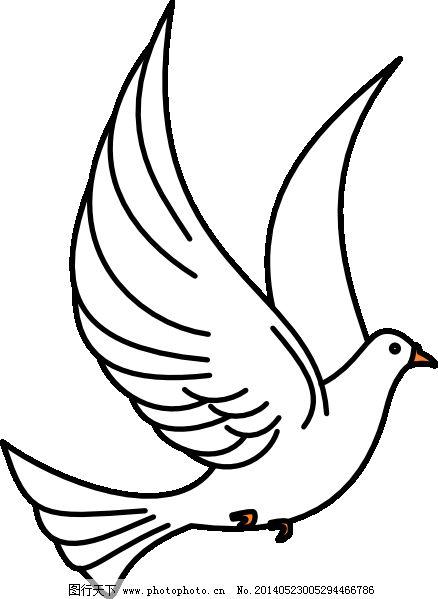 画和平鸽的步骤