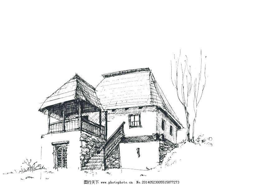 草图 草图图标矢量矢量的房子 草图图标的房子 房子的草图素描矢量图