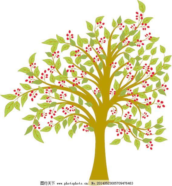 材料 树木 树木 树木的材料 材料 可爱的卡通矢量树树材料 爱护树木