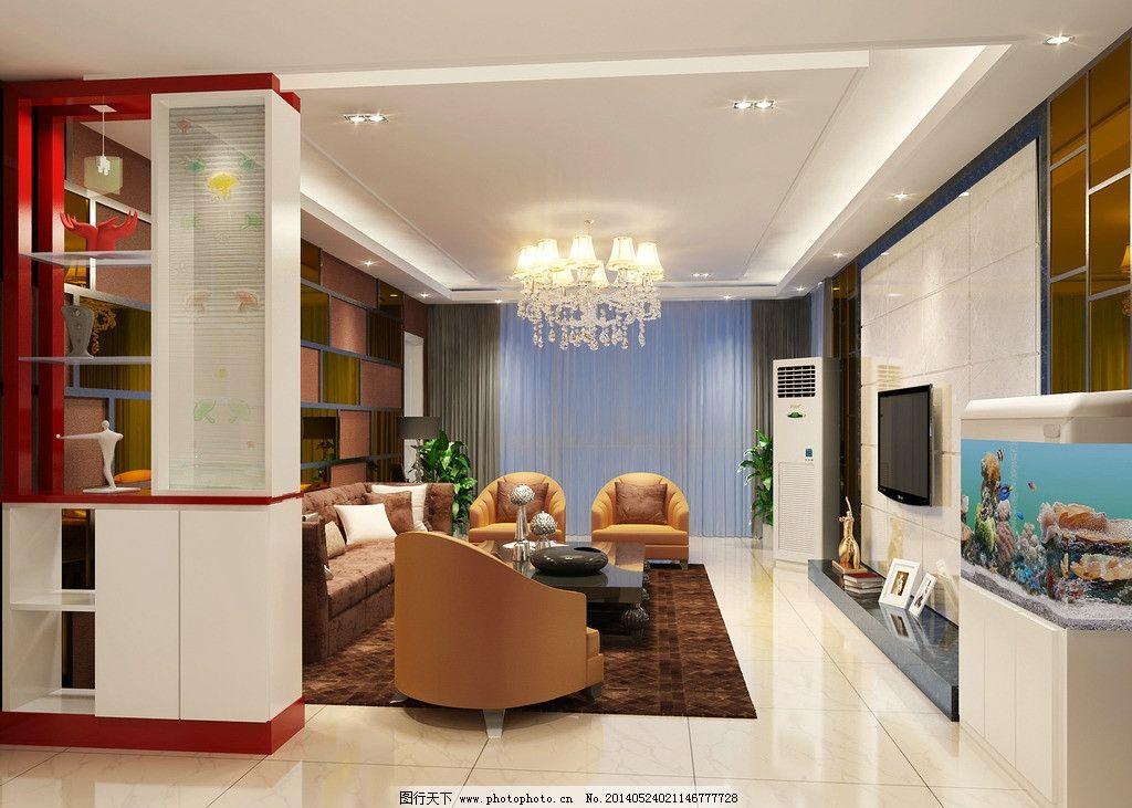 新中式客厅效果图        表现 新中式 高档 暖色 温馨 家装 3d设计