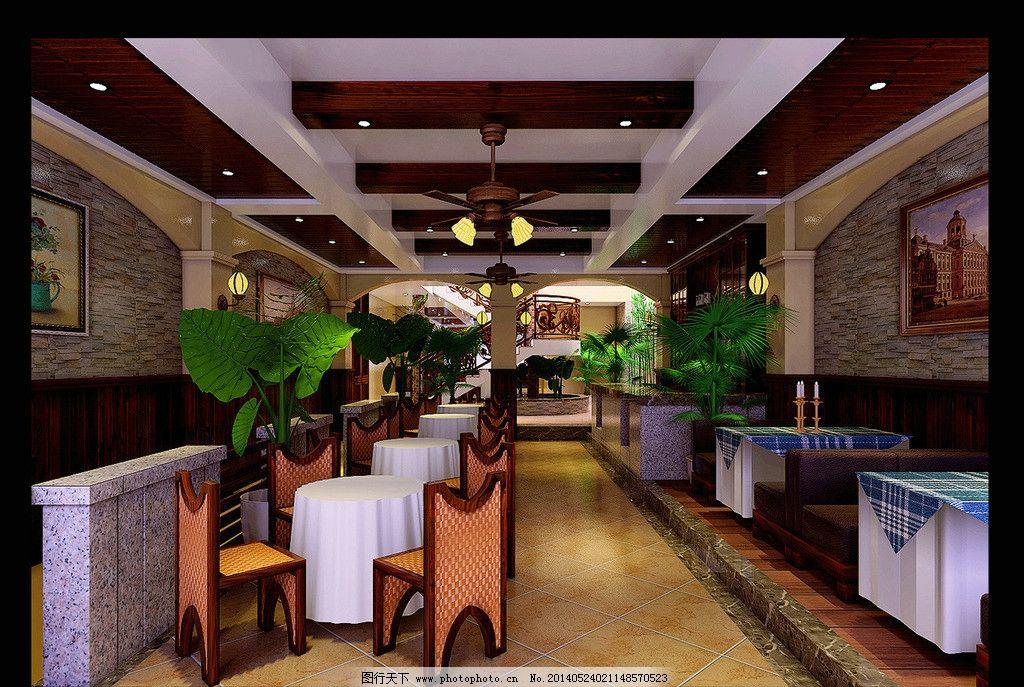 咖啡厅 室内 设计 装饰 咖啡 地中海 3d作品 3d设计 300dpi jpg