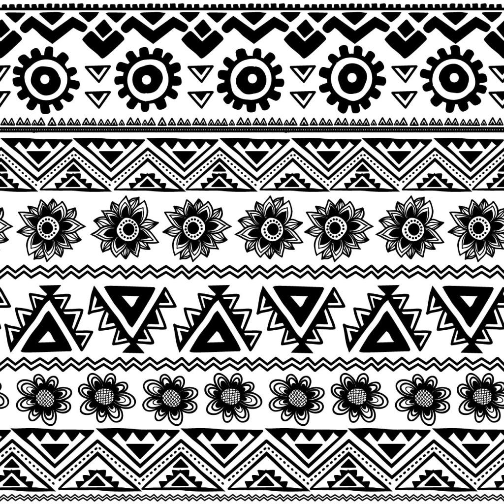 黑白植物花边 黑白植物花边免费下载 花朵 太阳 三角型 矢量图