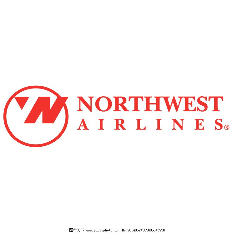 标志矢量西北航空 西北航空公司0 矢量西北航空 西北航空的0航班的
