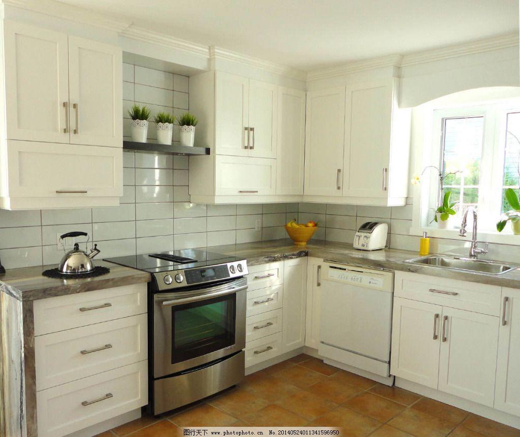 白色欧式厨房 白色欧式厨房免费下载 装修 家居装饰素材 室内设计图片