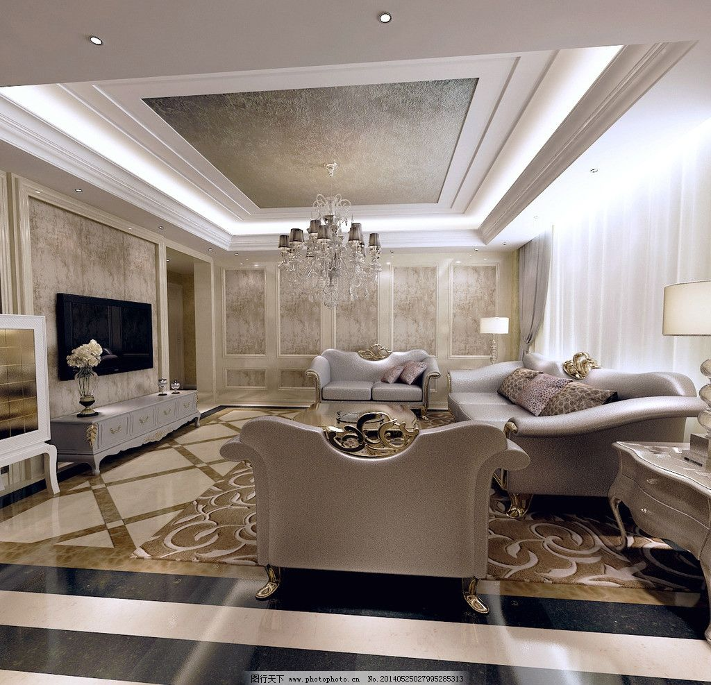 别墅家装客厅效果图图片