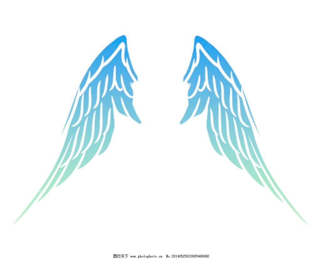 小清新渐变天使翅膀图片