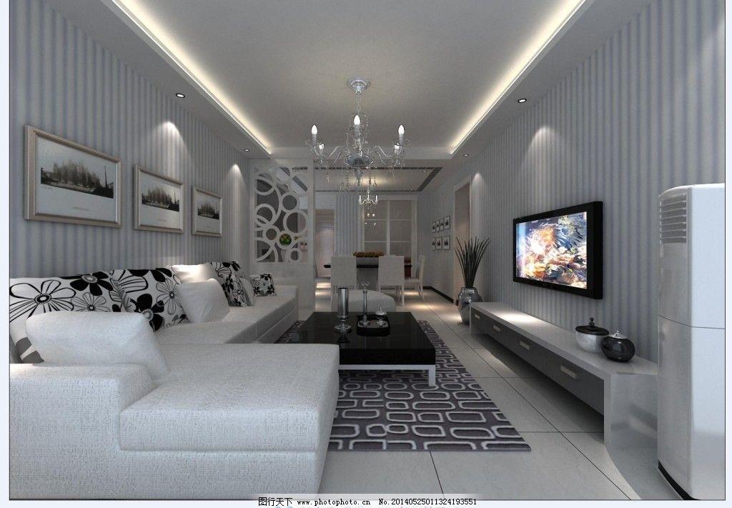 白色条纹壁纸_室内设计