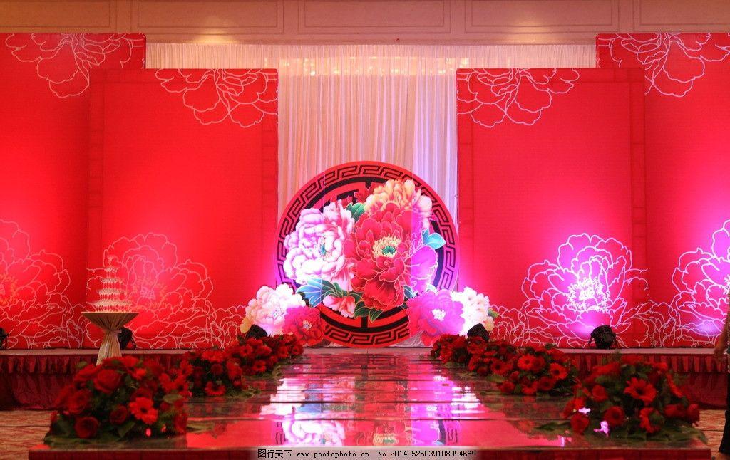 中式婚礼 舞台图片图片