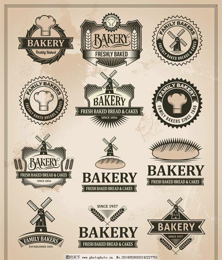 面包蛋糕店糕点图标 面包店 西点 蛋糕店 烘培店 cake 蛋糕店logo 餐