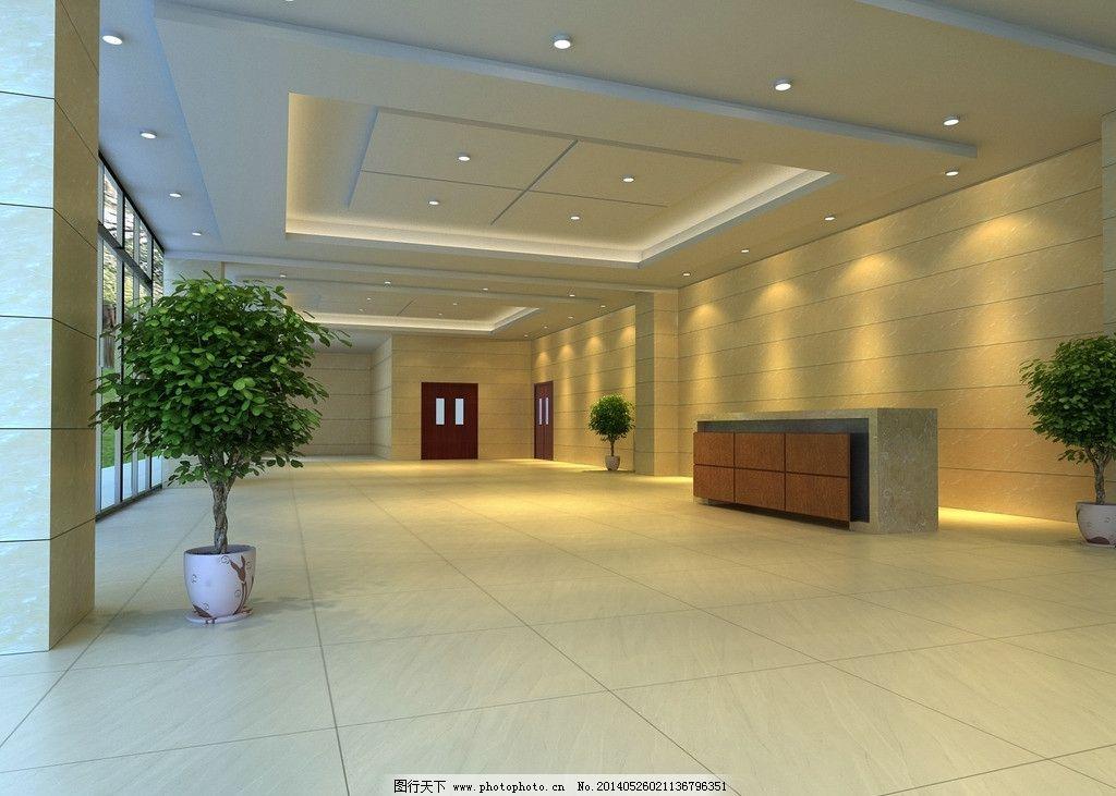办公楼大厅效果图图片