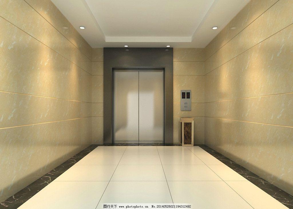 电梯间效果图 办公楼 电梯 装修        走廊 3d设计 设计 72dpi jpg