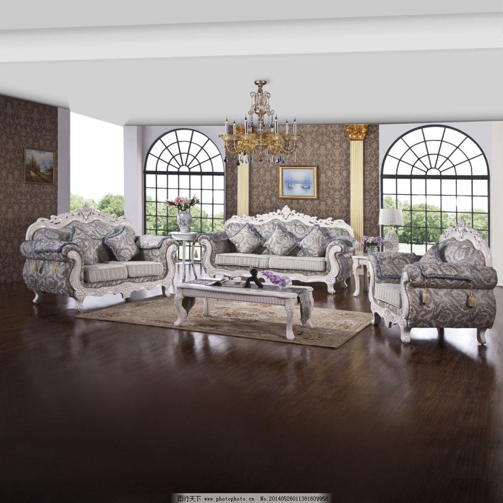 欧式壁纸沙发图片