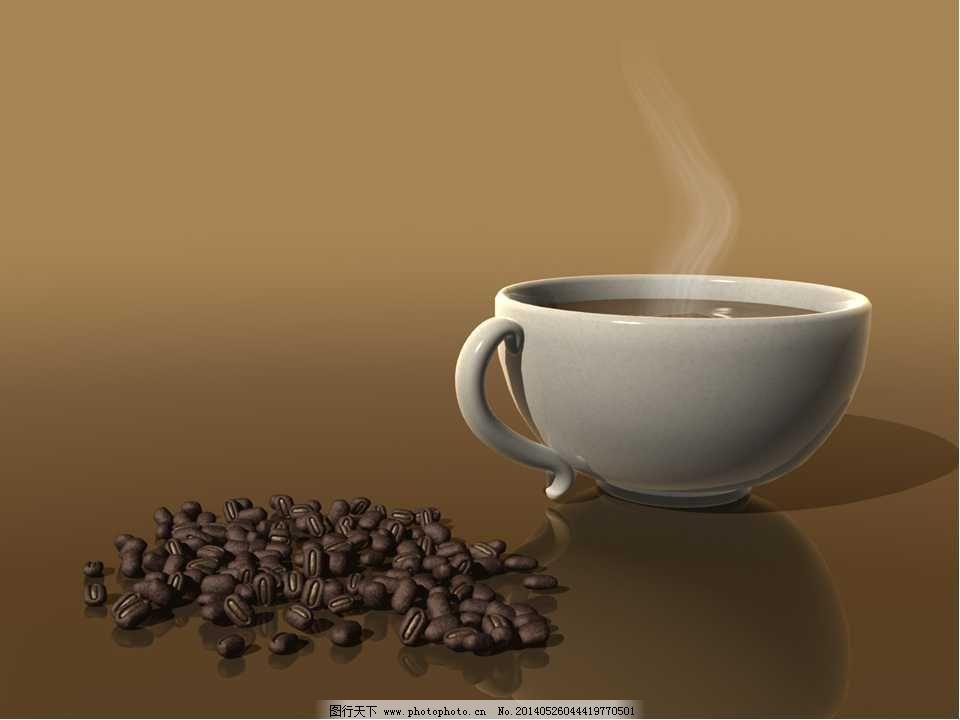 褐色咖啡ppt模板免费下载