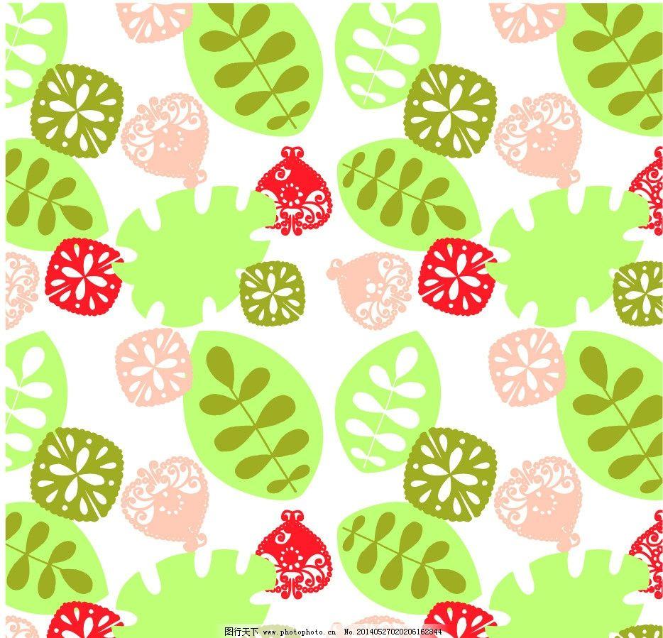 设计图库 底纹边框 背景底纹  花布 花纹 树叶 叶子 古典花纹 古典
