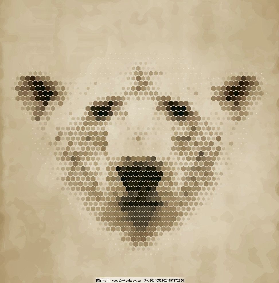 北极熊 像素动物 像素 像素艺术 马赛克 手绘 像素画 创意 矢量素材